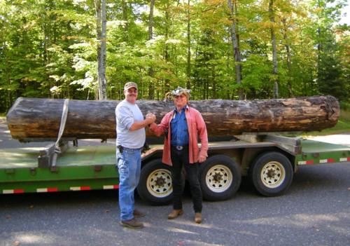 Dan Waite, Jon Johnson, and the log