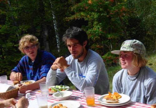 Ben, Graduate Fellow Jeff, and Gretchen
