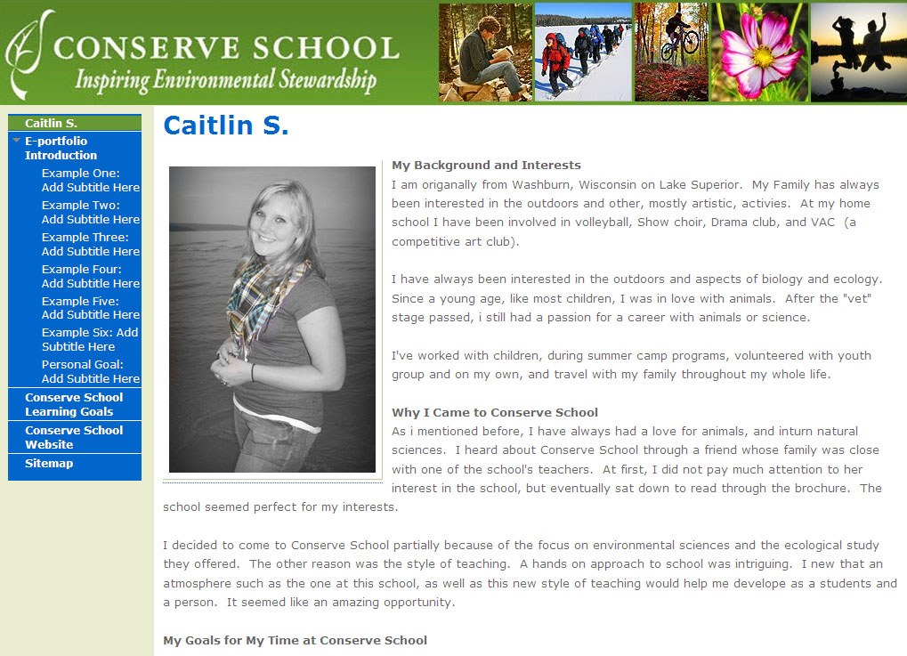 Conserve School Digital Portfolio College Scholarship Contest