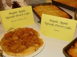 Homemade maple apple cake.  Made by the students with Conserve School maple syrup.