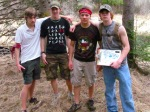 David, Matt, Andrew, and Jack K.looking tough during the Spring Fest scavenger hunt
