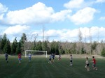 Pick up games of ultimate Frisbee are popular at Conserve School.