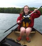 Izzy paddling
