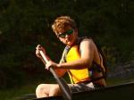 Alex paddling