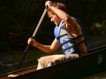Andrew paddling
