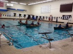 The deep end of the pool was only large enough to accommodate 4 canoes at once.