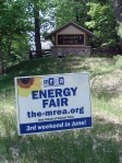 Signs promoting the Energy Fair could be found all over the state of Wisconsin