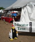 The Educators Tent was filled with ideas and items to help teach about energy conservation and renewable energy
