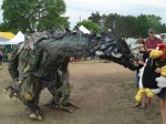 There were a few strange creatures at the Energy Fair!