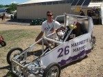 There were lots of demonstrations, like this biodiesel race car.