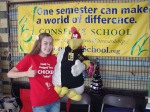 Jessica and Foghorn in the Conserve School booth