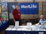 Calvert Financial and MetLife had the booth next to Conserve. They were educating people about environmentally responsible investing.