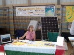 Sun and Daughters had the booth next to Conserve. They provided us with the expertise for our solar panels on campus.