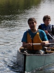 Zeki and Colin bring in thier canoe at the end of the voyage.