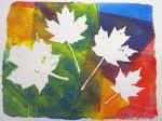 Laura and Gwen's colorful maple leaf print