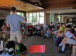 Field Instructor Rob Stuart leads a discussion of nutrition on backpacking trips.