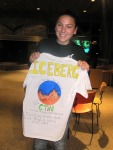 Katie with her CTiN shirt