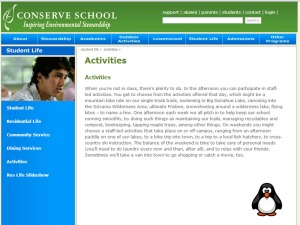 Activities Page Start