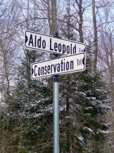 Street signs at Conserve School