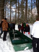 Students break up into three sledging teams