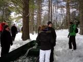 Teacher Michael Salat gives sledging instruction