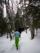Walking the single track to Little Donahue Lake