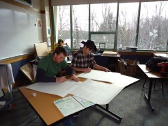 Josh and Jason labeling Phenology book pages