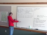 Lyn displays the Bird Feeding and Monitoring group's timeline