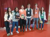 CS5 students Tessa and Maia with CS4 students Rayna, Nathan, Xander, and Kasey.