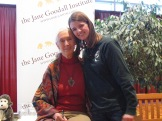 CS5 student Ella with Jane Goodall.
