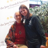 CS5 student Ella with Jane Goodall.
