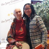 CS5 student Maia with Jane Goodall.