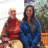 CS5 Student Tessa with Jane Goodall.