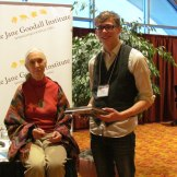 CS4 Student Nathan with Jane Goodall