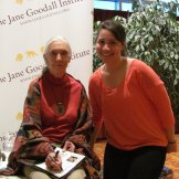 CS4 student Rayna with Jane Goodall