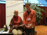 CS4 student Xander with Jane Goodall