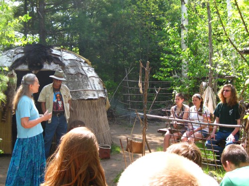 In 2011 Conserve School students visited the re-created Ojibwe Indian Village, Waswagoning