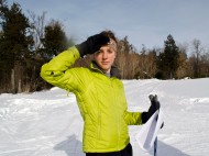 On the ski trails