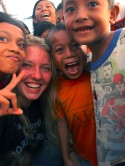 Kaityln with kids
