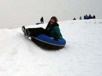 On the sledding hill