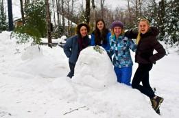 Teddy Roosevelt in snow