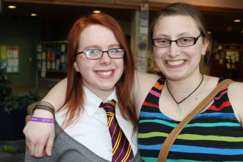 With a friend from Hogwarts