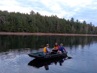 An evening row on Little Donahue