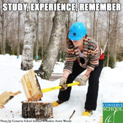A Conserve School picture quote.