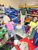 The Grad Fellows storm the Gear Room for all of their equipment needs.