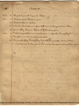 The first page of Thomas Jefferson's Garden Book (1766). Jefferson is known as the first North American phenologist. http://www.masshist.org/thomasjeffersonpapers/garden/index.html
