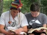 Pardo and Jesse reading