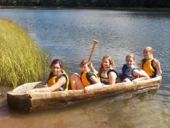 Talula, Jade, Katelynn, Maddie and Hattie prepare to leave shore