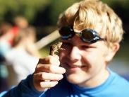 Dane finds a frog!