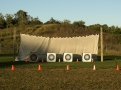The range is beautiful in the evening sunlight